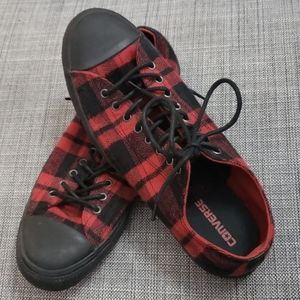 Converse Red Flannel Chucks Sneakers